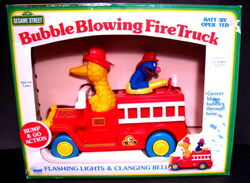 Bubble blowing fire truck 1