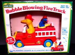 Bubble blowing fire truck 1