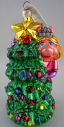 Radko 1997 glass ornament miss piggy christmas tree
