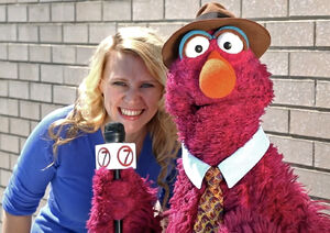 Kate McKinnon and Telly Monster