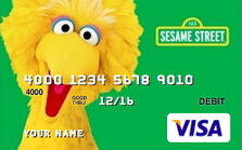 Sesame debit cards 50 big bird