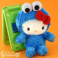 Strapya 2011 mascot hello kitty plush big cookie monster japan
