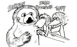 CarollSpinney-ComicStrip-Sesamstrasse-GermanCharacters