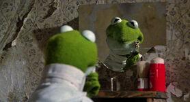 Kermit shaves