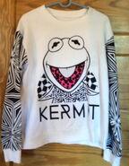 Forever 21 kermit black and white