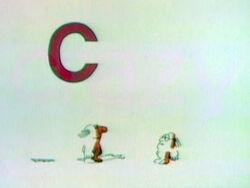 Letter C toon