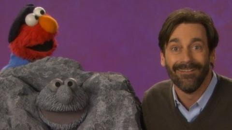 Sesame Street Jon Hamm and Elmo -- Sculpture
