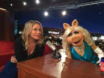 Christina Applegate and Miss Piggy