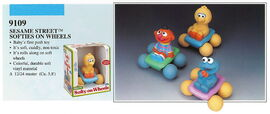 Illco 1992 baby toys softy on wheels
