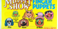Muppet Show finger puppets (Palitoy)