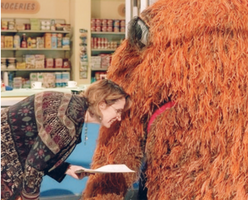 Annie Evans and Snuffy
