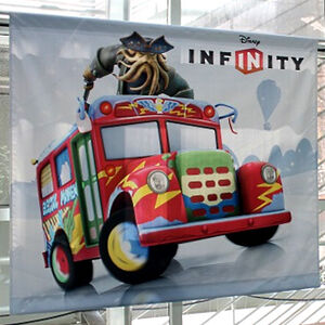 Disney Infinity EM bus promo banner