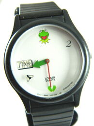 Lorus 1994 kermit time flies watch