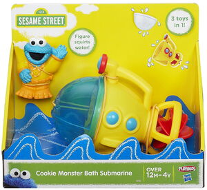 Playskool 2015 cookie monster bath submarine 1