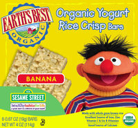 Yogurt Rice Crisp Cereal Bars - Banana
