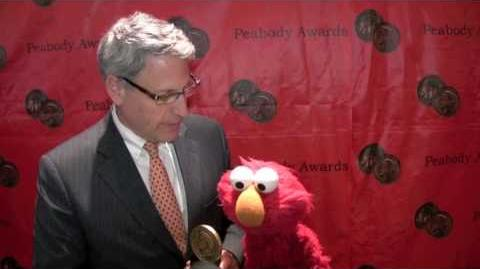 Gary Knell & Elmo of Sesame Workshop at 69th Peabodys