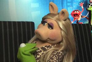 Kiss Kermit Piggy Radio Times March 2014