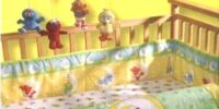 Plaza Sésamo crib set