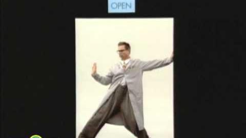 Sesame Street Professor TV Open & Closed