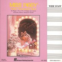 Hal leonard 1986 miss piggy music manuscript paper