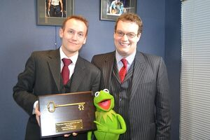 Tower Bridge Key - Councilman Adam Richardson and Alderman Matthew Richardson