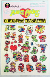 Colorforms muppet babies rub n play transfers daryl cagle 3