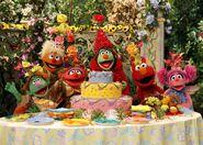 Elmo and abbys birthday fun screen cake