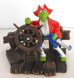 Kermit aquarium decoration muppet treasure island mti 1