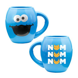 Vandor cookie monster oval ceramic mug