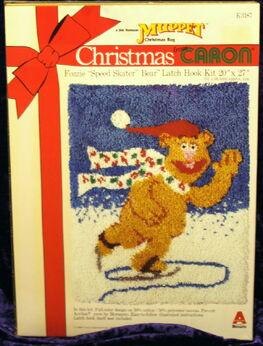 Caron latch hook kit christmas fozzie