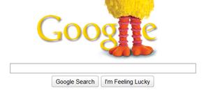 Sesame Street Google Doodles