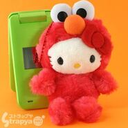 Strapya 2011 mascot hello kitty plush big elmo japan