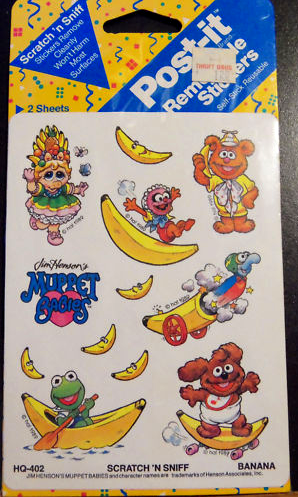 Post it 1989 muppet babies stickers smell banana