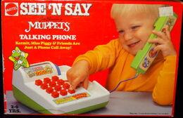 Mattel 1990 see 'n say talking phone 1