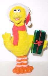 Flocked christmas ornaments 1
