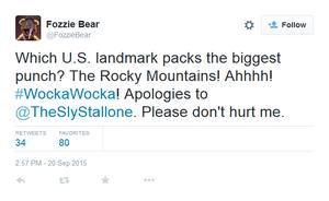 Fozzie Rocky tweet