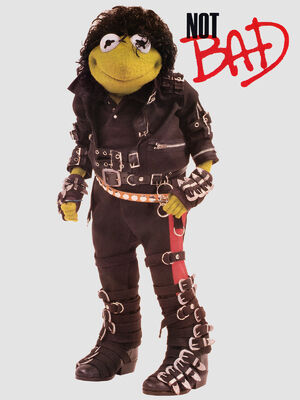 Kermit as Michael Jackson