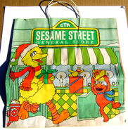 Sesame street general store christmas shopping bag gg