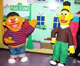 Bert and Ernie Wax Figures