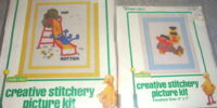 Sesame Street needlecraft kits (Vogart)