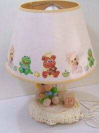 Nursery originals 1986 muppet babies piggy lamp 2