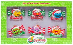Furry christmas ornaments