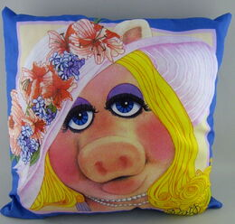 D & m 1981 satin throw pillow piggy 1