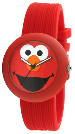 Viva time rubber strap watch elmo