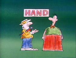 Cartoon-signhand
