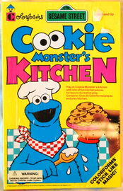 Cookie Monster's Kitchen (1993 Colorforms)