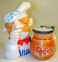 Sigma 1979 swedish chef salt and pepper shakers 1