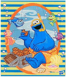 Woodboard puzzle cookie monster