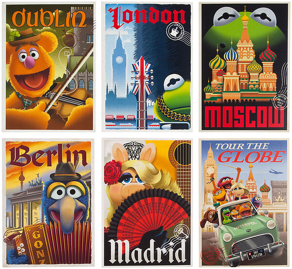 MuppetsTourTheGlobe-Postcards