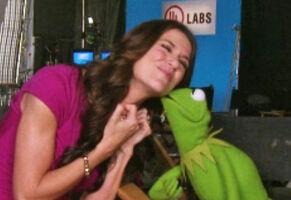 Kiss Kermit Samantha Harris